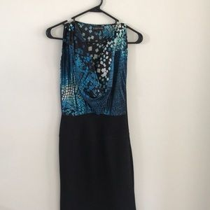 Rampage blue and black cocktail dress